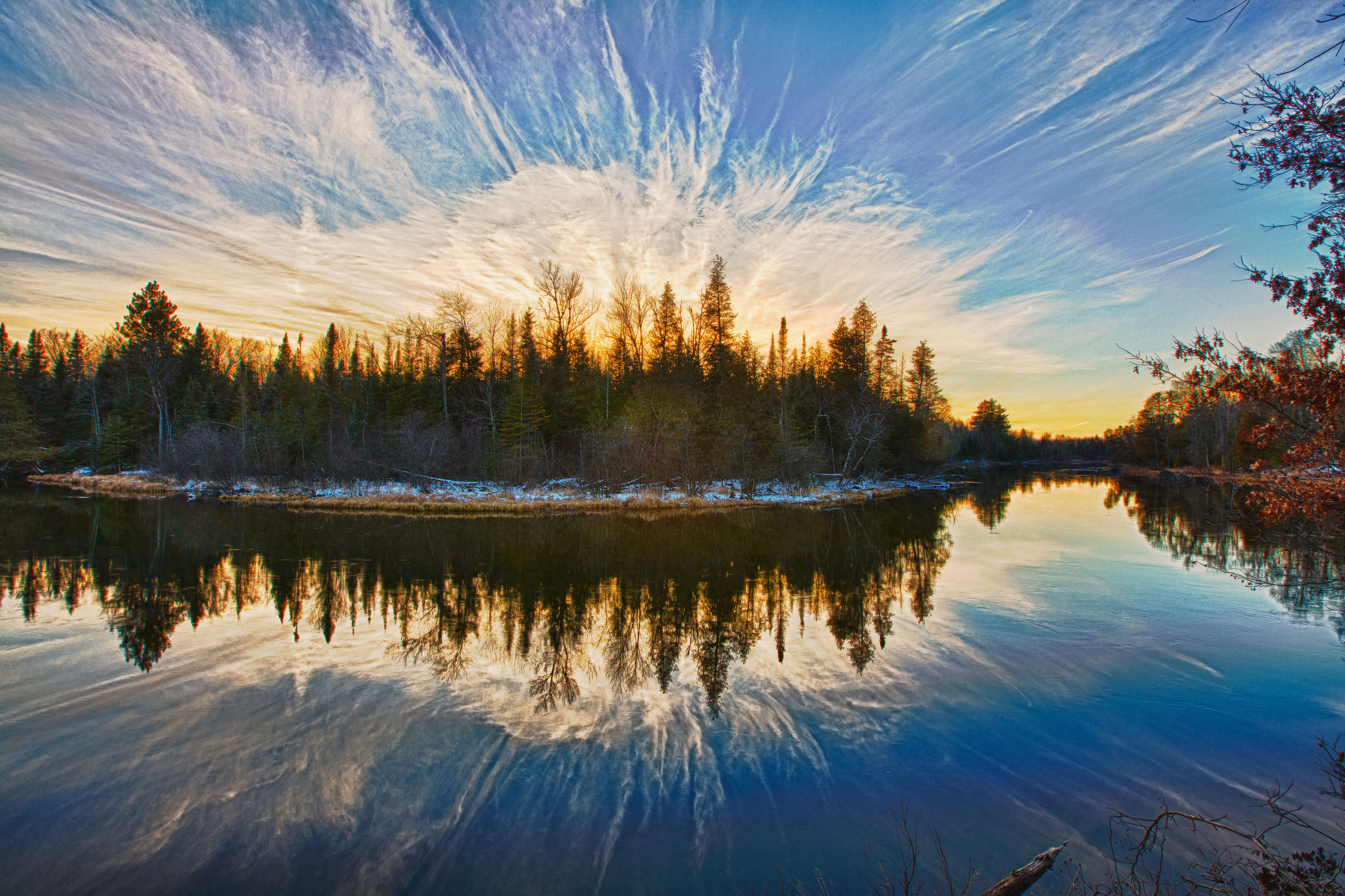 what inspires you submit your story headwaters land conservancy au sable river winter sunset photo by gary gee typeswhat inspires you