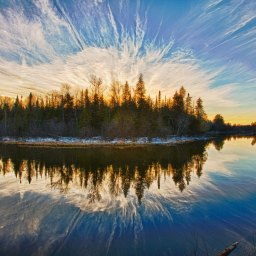 Au Sable River Winter Sunset Photo By: Gary Gee