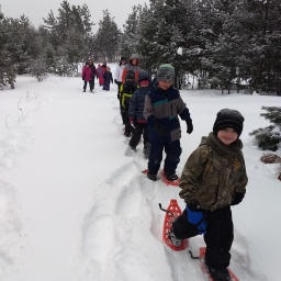 Vanderbilt area schools try out snowshoes!