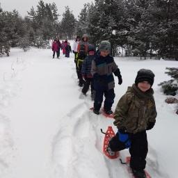Vanderbilt area schools try out snowshoes!