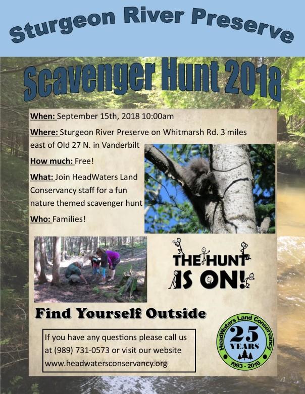 Scavenger hunt 2018 flyer