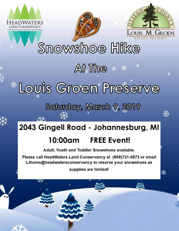 2019 snowshoe hike at groen