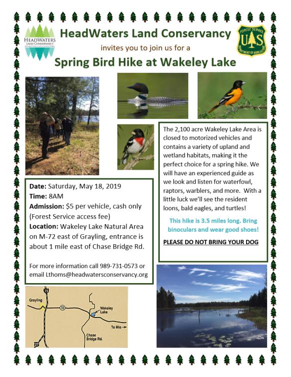 Wakeley Lake Bird Hike Flyer 2019