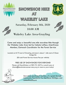Snowshoe at Wakeley Lake 2.8.2020