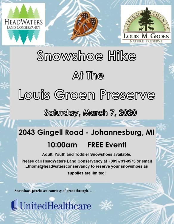 2020 Snowshoe Hike at Groen