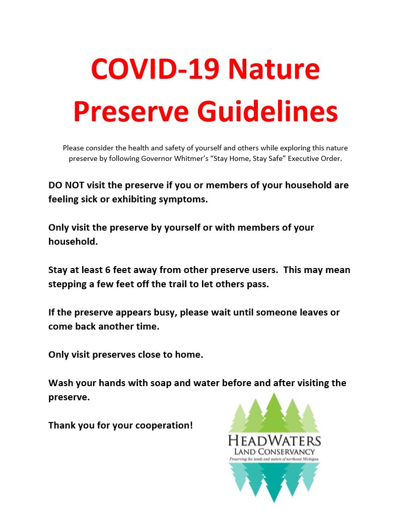 COVID-19 preserve sign